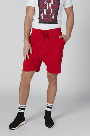 Sustainability Pocket Detail Shorts in Relaxed Fit with Drawstring