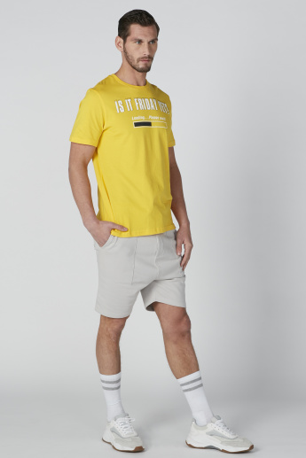 Pocket Detail Shorts in Regular Fit with Drawstring