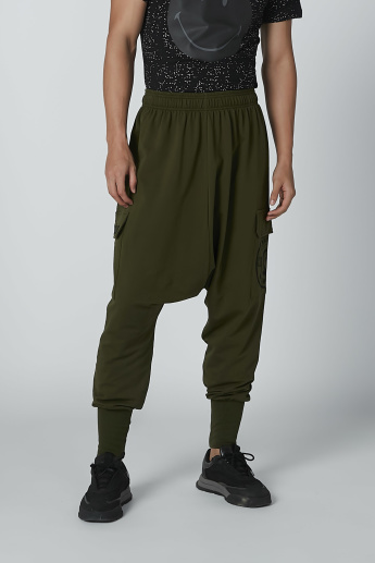 Printed Jogger with Cuffed Hem and Pocket Detail