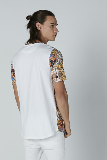 Printed Casual T-Shirt with Short Sleeves
