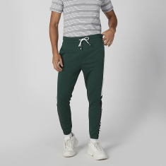 Cuffed Printed Joggers with Drawstring Waistband and Pocket Detail