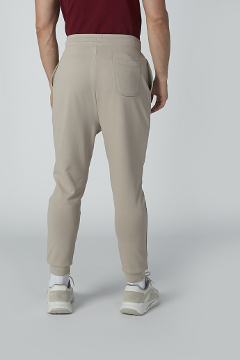 Full Length Plain Pants with Pocket Detail and Cuffed Hem