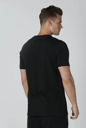 Sustainable Embroidered T-shirt in Slim-Fit with Round Neck