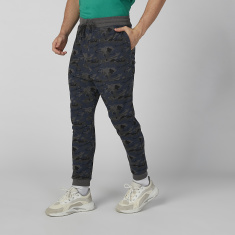 Sustainability Camouflage Printed Jog Pants with Pocket Detail