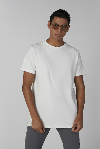 Sustainability Plain T-shirt in Slim Fit with Short Sleeves