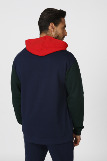 Printed Sweatshirt with Long Sleeves and Hood