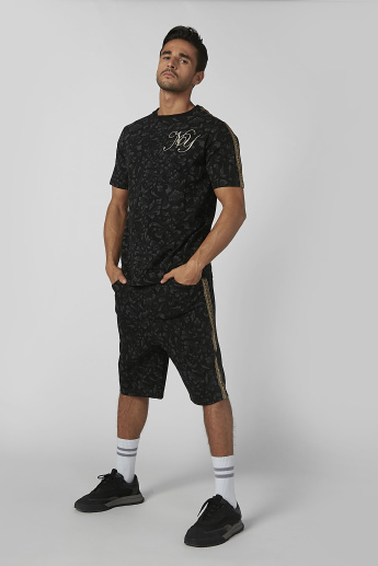 Sustainability Slim Fit Printed T-shirt with Short Sleeves