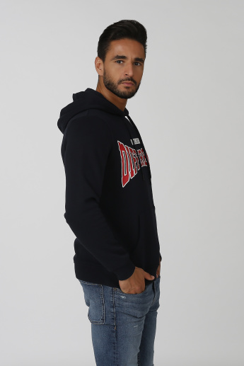 Sustainable Printed Sweatshirt with Long Sleeves and Hood