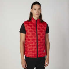 Gilet Jacket with Pockets and Zip Closure