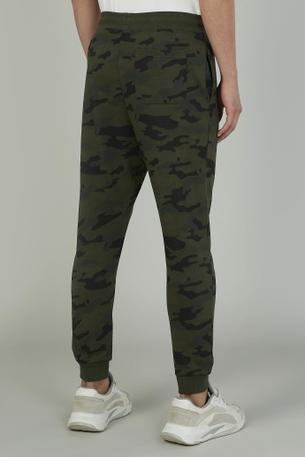 Skinny Fit Camo Print Jog Pants with Elasticised Waistband
