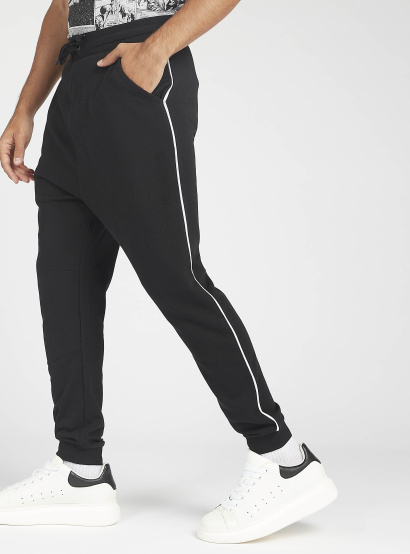 Sustainable Textured Joggers with Pockets and Drawstring Closure