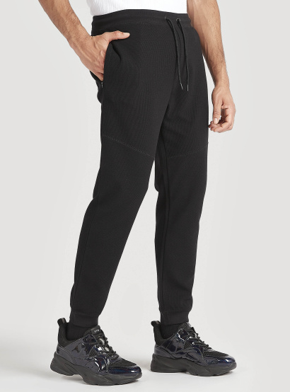 Sustainable Solid Joggers with Drawstring Waist