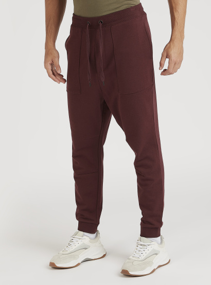 Sustainable Solid Joggers with Pockets and Drawstring Closure
