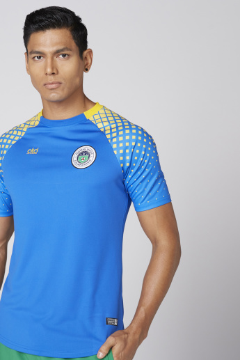 Brasil Printed T-Shirt with Round Neck and Raglan Sleeves
