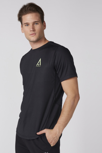 Printed T-Shirt with Round Neck