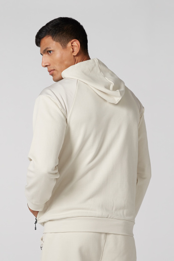 High Neck Jacket with Raglan Sleeves and Hood