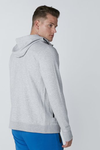 Hooded Jacket with Thumb Hole and Zip Closure