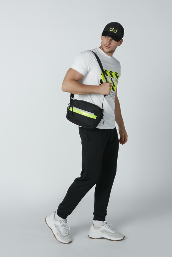 Printed Slim-Fit Jog Pants with Pocket Detail and Drawstring