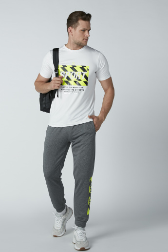 Slim Fit Printed Full Length Jog Pants