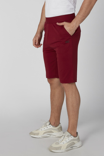 Plain Shorts with Pocket Detail and Elasticised Waistband