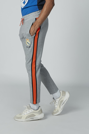 Printed Track Pants with Pocket Detail and Drawstring