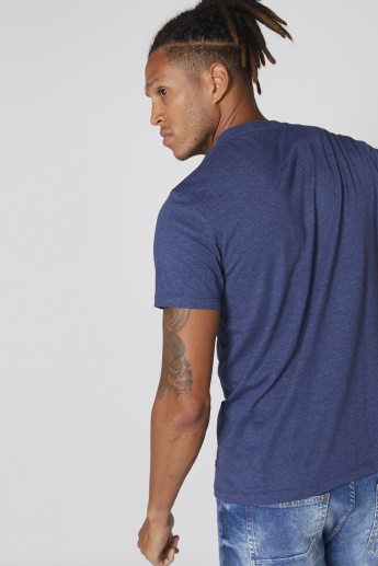 Henley Neck T-Shirt with Short Sleeves and Chest Pocket