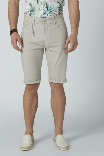 Sustainability Low-Rise Denim Shorts with Pockets