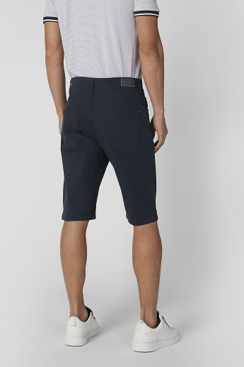 Sustainable Plain Low Waist Shorts with Pocket Detail