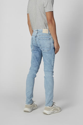 Sustainable Skinny Fit Full Length Low Waist Jeans with Belt Loops
