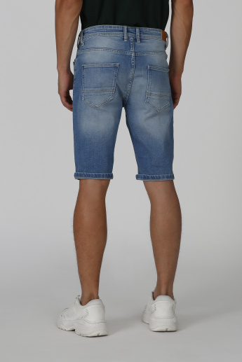 Sustainable Denim Shorts with Pocket Detail