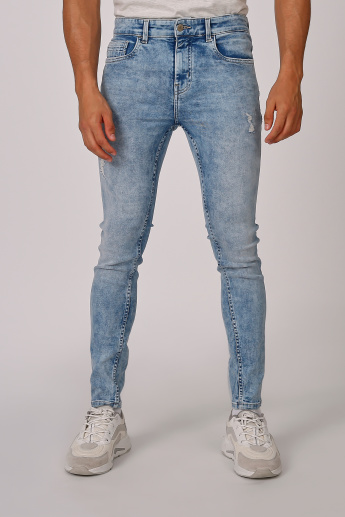Sustainable Full Length Ribbed Jeans with Pocket Detail