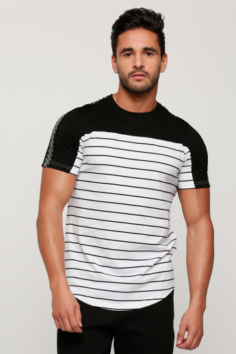Kappa Printed Round Neck T-Shirt with Short Sleeves
