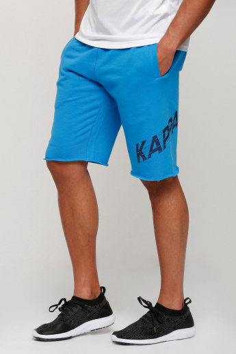 Kappa Printed Shorts with Elasticised Waistband and Pocket Detail