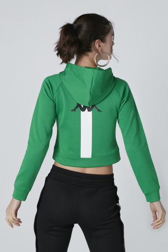 Kappa Cropped Sweatshirt with Banda Tape Detail