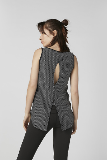 Kappa Chequered Vest with Scoop Neck