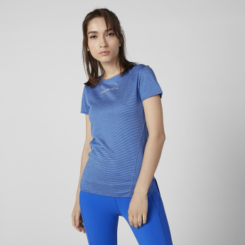Kappa Printed T-shirt with Short Sleeves and Round Neck