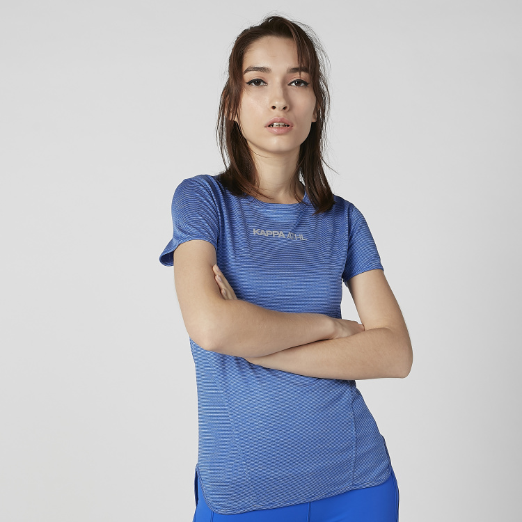 Kappa Plain T-shirt with Short Sleeves and Crew Neck