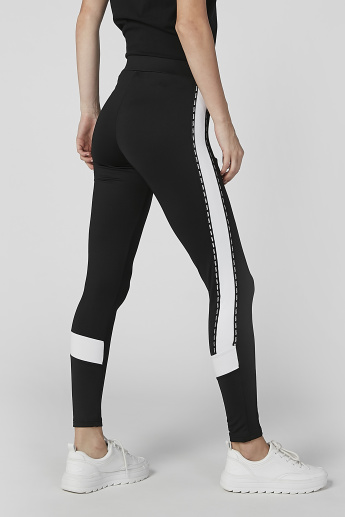 Kappa Full Length Stripe Jog Pants with Pocket Detail