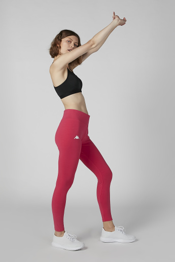 Sustainability Kappa Plain Mid-Rise Leggings with Tape Detail