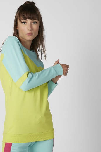 Sustainable Kappa Printed Sweatshirt with Long Sleeves