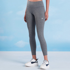 Kappa Plain Cropped Leggings with Elasticised Waistband