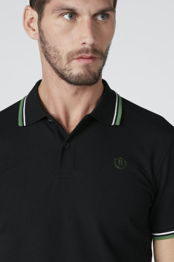 Bossini Polo Neck T-shirt with Tipping Detail and Short Sleeves