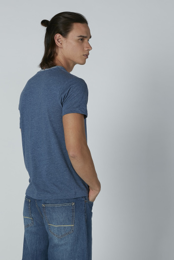 Bossini Short Sleeves T-shirt with Chest Pocket Detail and Round Neck
