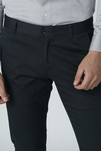 Bossini Plain Formal Trousers with Pocket Detail