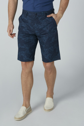 Bossini Printed Shorts with Pocket Detail