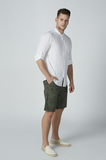 Bossini Printed Shorts with Pocket Detail and Belt Loops