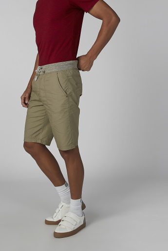 Bossini Shorts with Pocket Detail and Drawstring