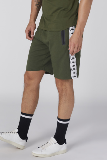 Kappa Pocket and Tape Detail Shorts with Elasticised Waistband
