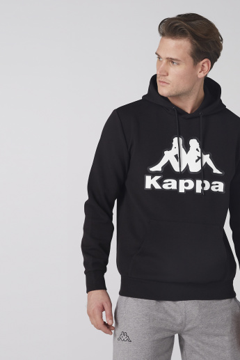 Kappa Printed Sweatshirt with Long Sleeves and Hood