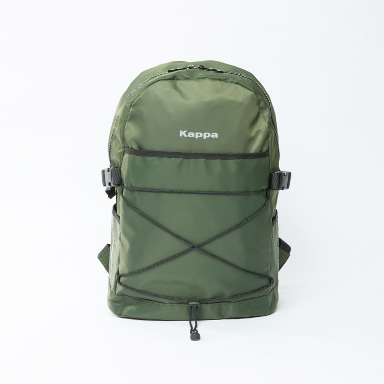 Kappa Backpack with Adjustable Shoulder Straps and Zip Closure